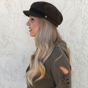 Women's Green Fisherman Cap